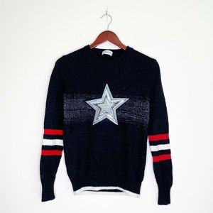 Coach 1941 Show Sample RARE Wool Glitter Star Crew